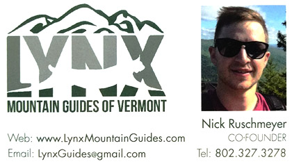 Lynx Mountain Guides of Vermont - Nick Ruschmeyer